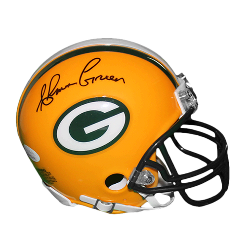 Ahman Green Autographed Green Bay Packers Football Mini Helmet (JSA COA)