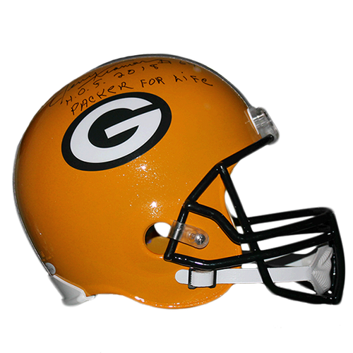 Jerry Kramer Green Bay Packers Autographed Full Size Replica Football Helmet Yellow (JSA COA) Rare