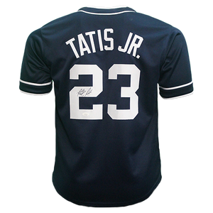 Just In! Fernando Tatis Jr Autographed San Diego Pro Throwback Style Baseball Jersey Blue Rookie Debut JSA COA! Compare at $350 Everywhere Else!