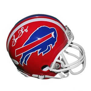 Thurman Thomas Autographed Buffalo Bills Mini Football Helmet Red JSA COA