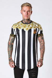 GOLD ROSE GARLAND TEE - STRIPE BY SINNERS ATTIRE