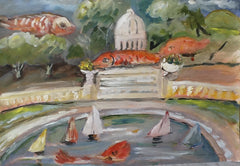 Les poisson rouges du Jardin du Luxembourg -  Red fish in the Luxembourg Park