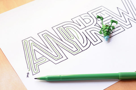 Personalized Andrew Name Maze | Instant Download PDF
