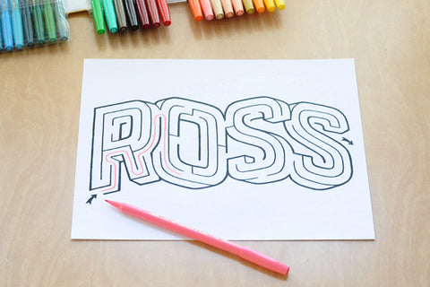 Personalized Ross Name Maze | Instant Download PDF