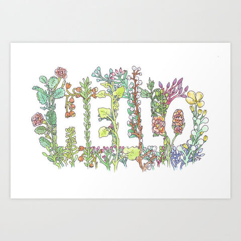 Fine Art Print | Hello in Flowers