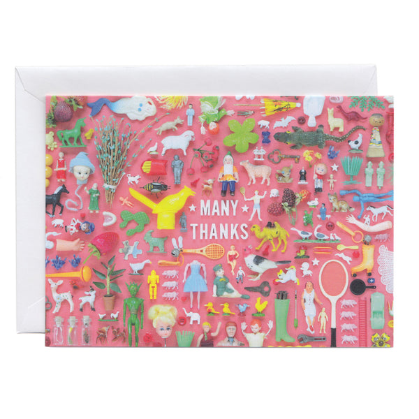 Tiny Things Many Thanks Collection Greeting Card at Imaginary Animal