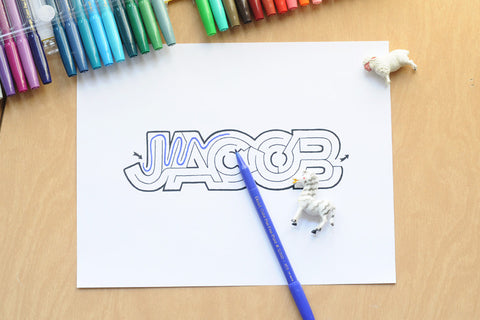 Personalized Jacob Name Maze | Instant Download PDF