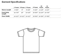 American Apparel Kids Short Sleeve Tee Size Chart