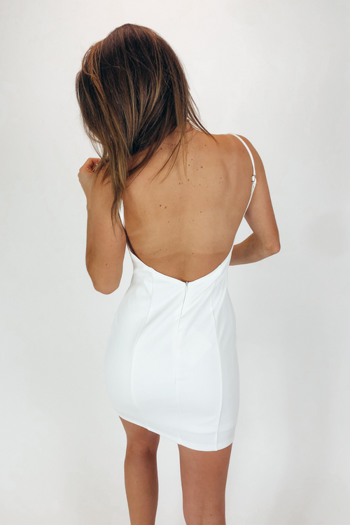 BODYCON MINI DRESS IN WHITE