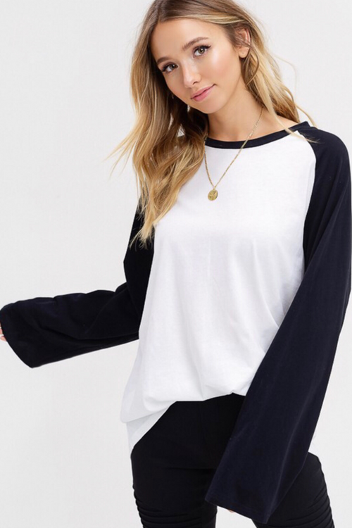 RAGLAN COLOR BLOCK TEE