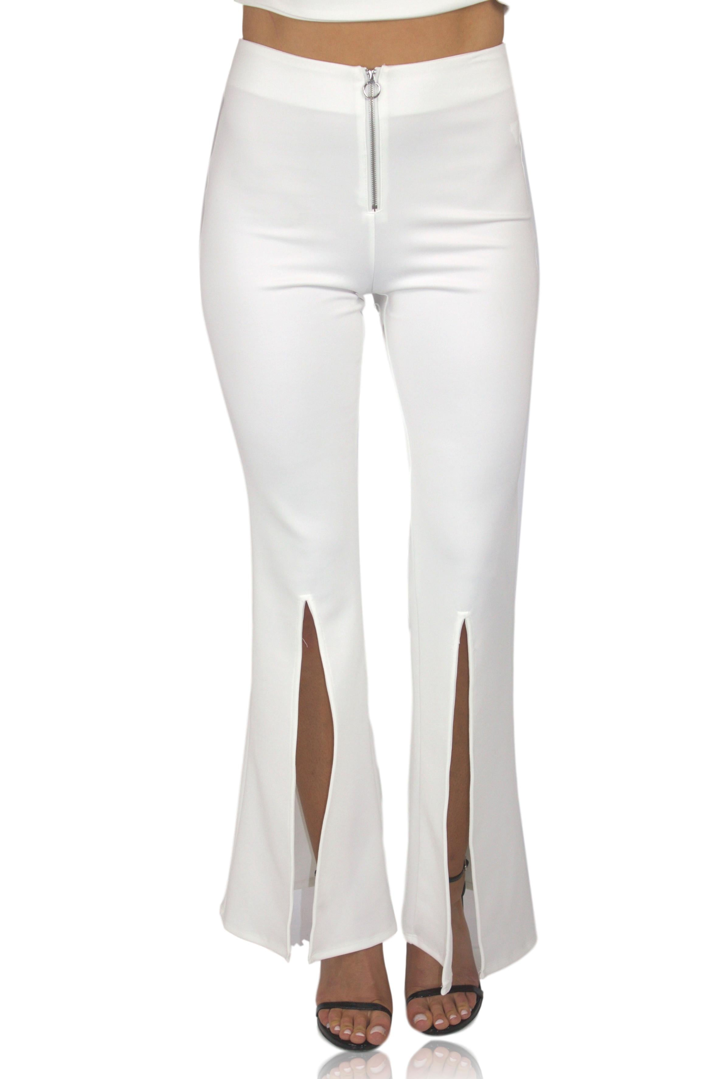 FLARE IT OUT PANT IN WHITE / FINAL CLEARANCE