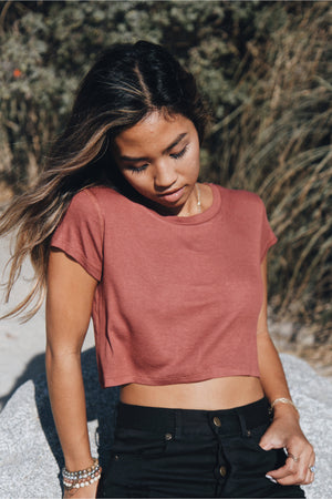 Rust Cropped Tee