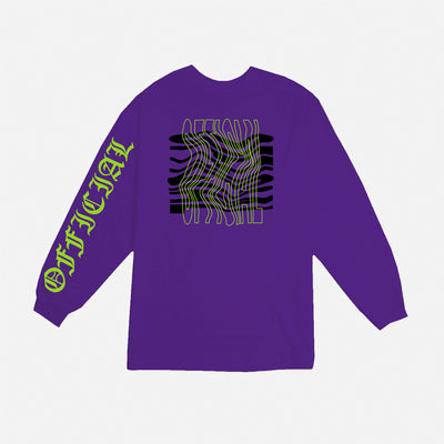 Tripped Longsleeve Purple