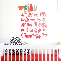 ABC Animal Wall Stickers