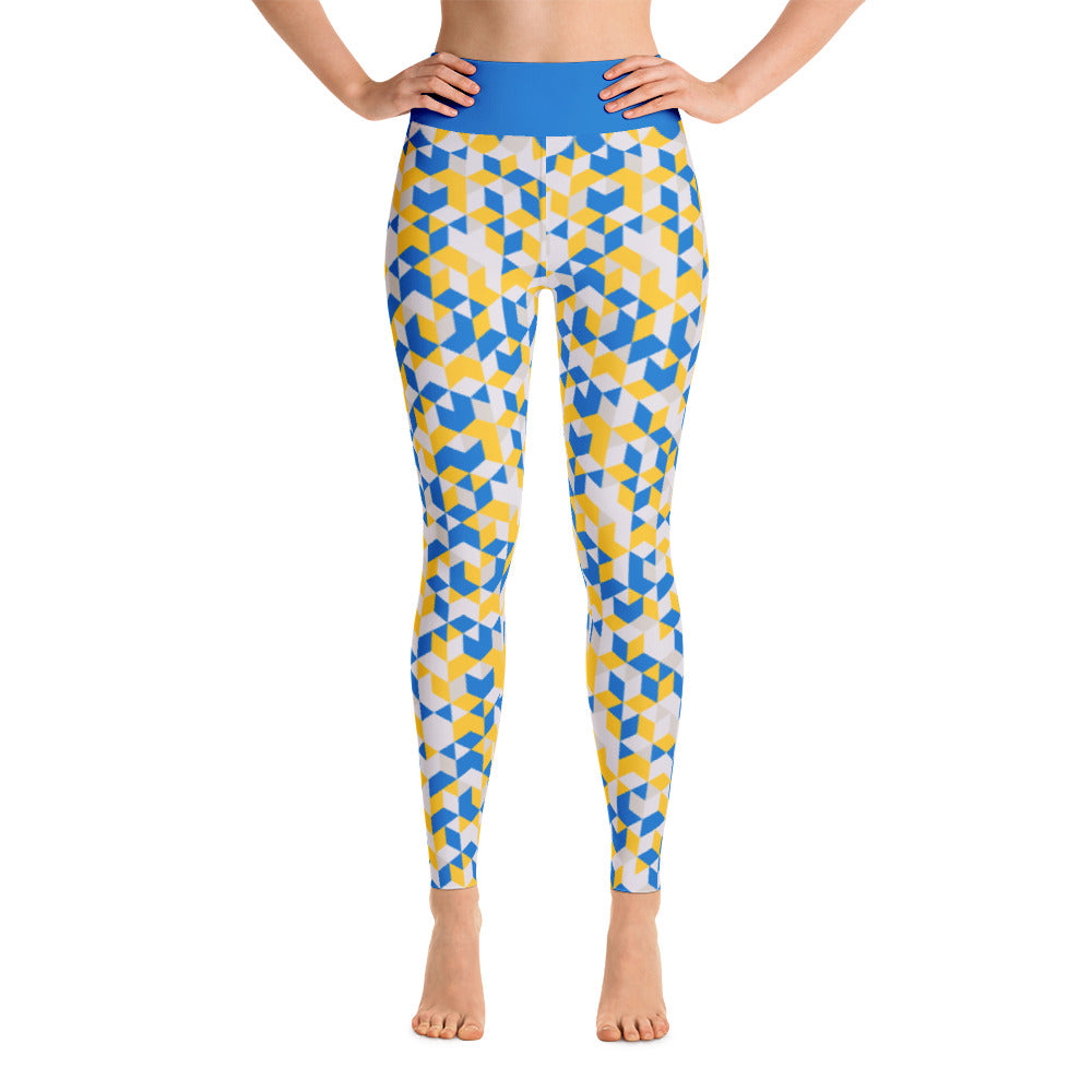 Cubed Pants, Blue & Gold