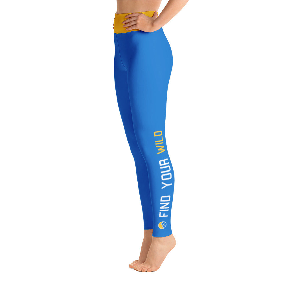 Find Your Wild Pants, Blue & Gold
