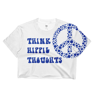 Think Hippie Thoughts Crop Top