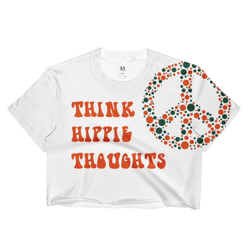Miami Think Hippie Thoughts Crop Top