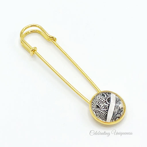 Gold Shawl Pin, Sweater Pin, Saree Pin - MeCelebratingU