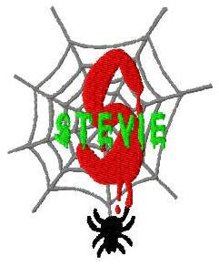 Halloween Spider Machine Embroidery Monogram Fonts Designs Set - Embroidery Designs By AVI