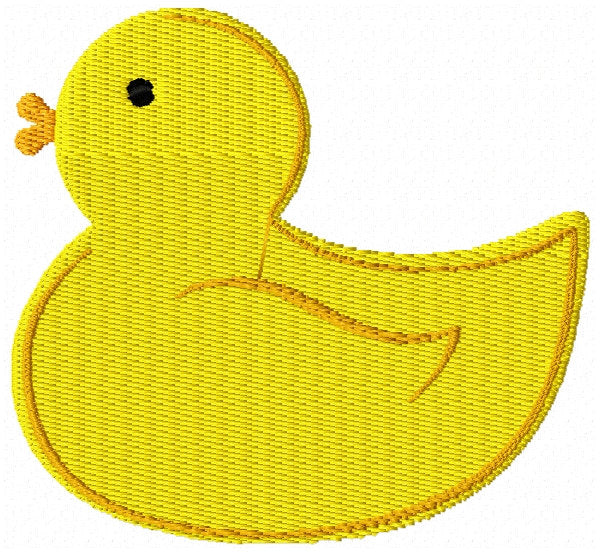 Rubber Duck Duckie Machine Embroidery Design - Embroidery Designs By AVI