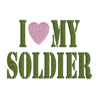 I love heart my Soldier Military Saying Machine Embroidery Design - Embroidery Designs By AVI