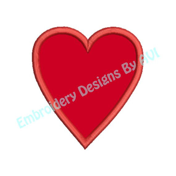 Valentines Heart Applique Machine Embroidery Design - Embroidery Designs By AVI