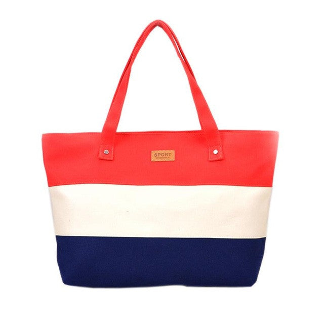 Nina Summertime Canvas Tote In 5 Scrumptious Summer Color Combinations - Glam Eyes Sunglasses