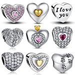 Giulia's Heart 925 Sterling Silver Charms to Fit Our Stella 925 Sterling Silver Charm Bracelet - Glam Eyes Sunglasses