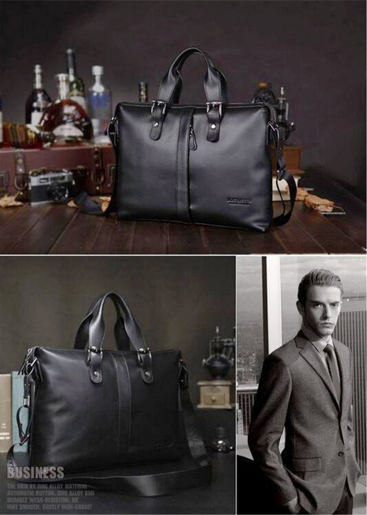Max Genuine Leather  Messenger  Briefcase for Laptop w/ Shoulder Strap - Glam Eyes Sunglasses