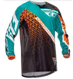 Fly Racing t-shirt Blue/Orange/Black / XS Fly Racing Dirt Kinetic Trifecta Mesh Jersey