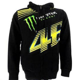 Valentino Rossi Black Monster Energy VR46 Monza Zip Hoodie
