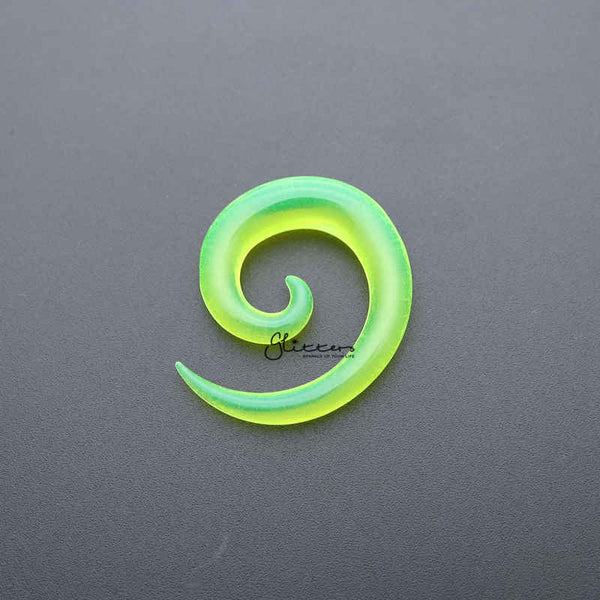 Green Acrylic Ear Spiral Taper Stretcher Plugs