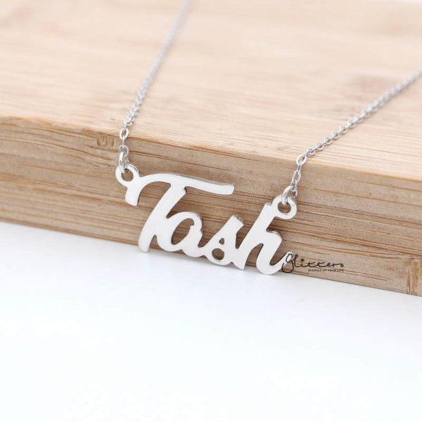 Personalized Sterling Silver Name Necklace-Font 12