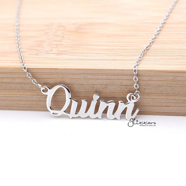 Personalized Sterling Silver Name Necklace - Font 10
