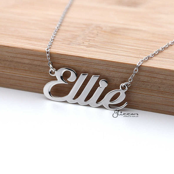 Personalized Sterling Silver Name Necklace - Font 1
