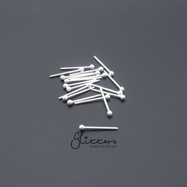 20 Gauge 925 Sterling Silver Plain Ball Nose Stud-1.5mm | 2mm-Glitters-New Zealand