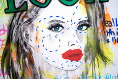 Untitled Nº120 Girl Faces Series - 90x70cm - Ready to Hang - Certificated