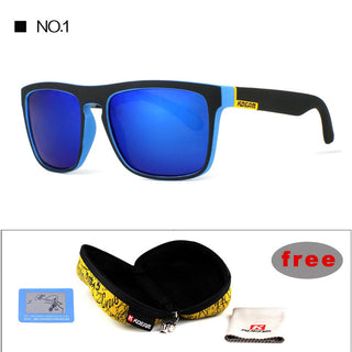 Mirror Polarized Sunglasses Men Square Sport Sun Glasses Women UV gafas de sol With Peanut Case KD156