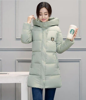 White Winter Coat Women 2018 Hot Sale Long Parka Fashion Students Slim Female Clothing Plus Size S-2XL Thick Jackets - Forefront Outfitters Inc.