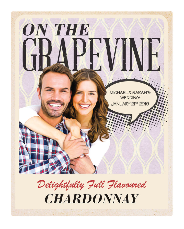 6 x 750ml McWilliams On The Grapevine Chardonnay labels with PICTURE & TEXT