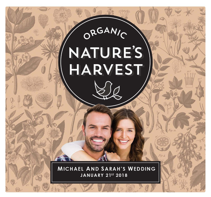 6 x 750ml Nature's Harvest Chardonnay labels with PICTURE & TEXT-My Brand And Me