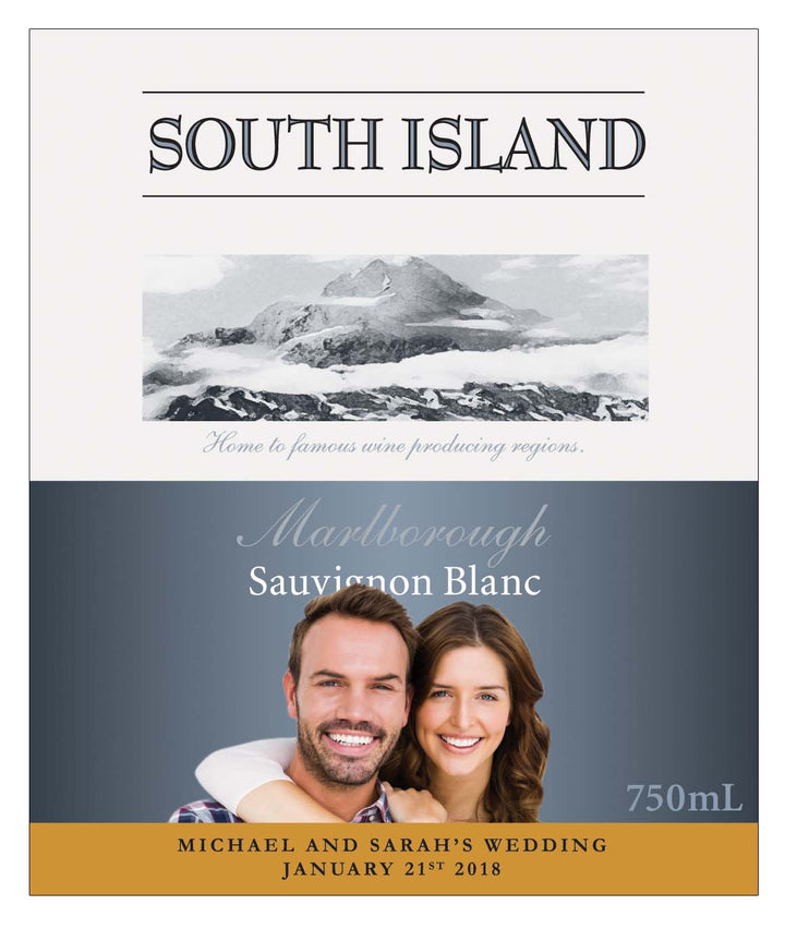 6 x 750ml South Island Sauvignon Blanc labels with PICTURE AND/OR TEXT
