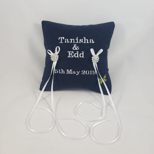 Memory Cushion - Wedding Ring Bearers Cushion | Lily Grace Keepsakes