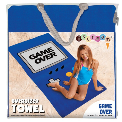 Game Over Oversized Towel