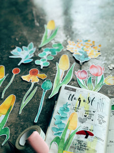Delicate Watercolour Floral Die Cuts
