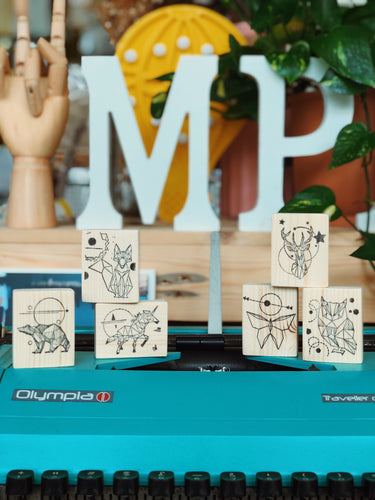 Origami Series Rubber Stamps