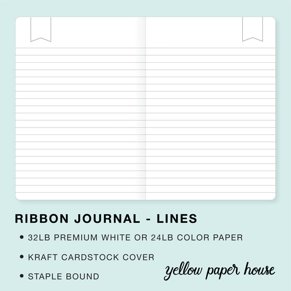 TRAVELERS NOTEBOOK INSERT - RIBBON JOURNAL - LINES
