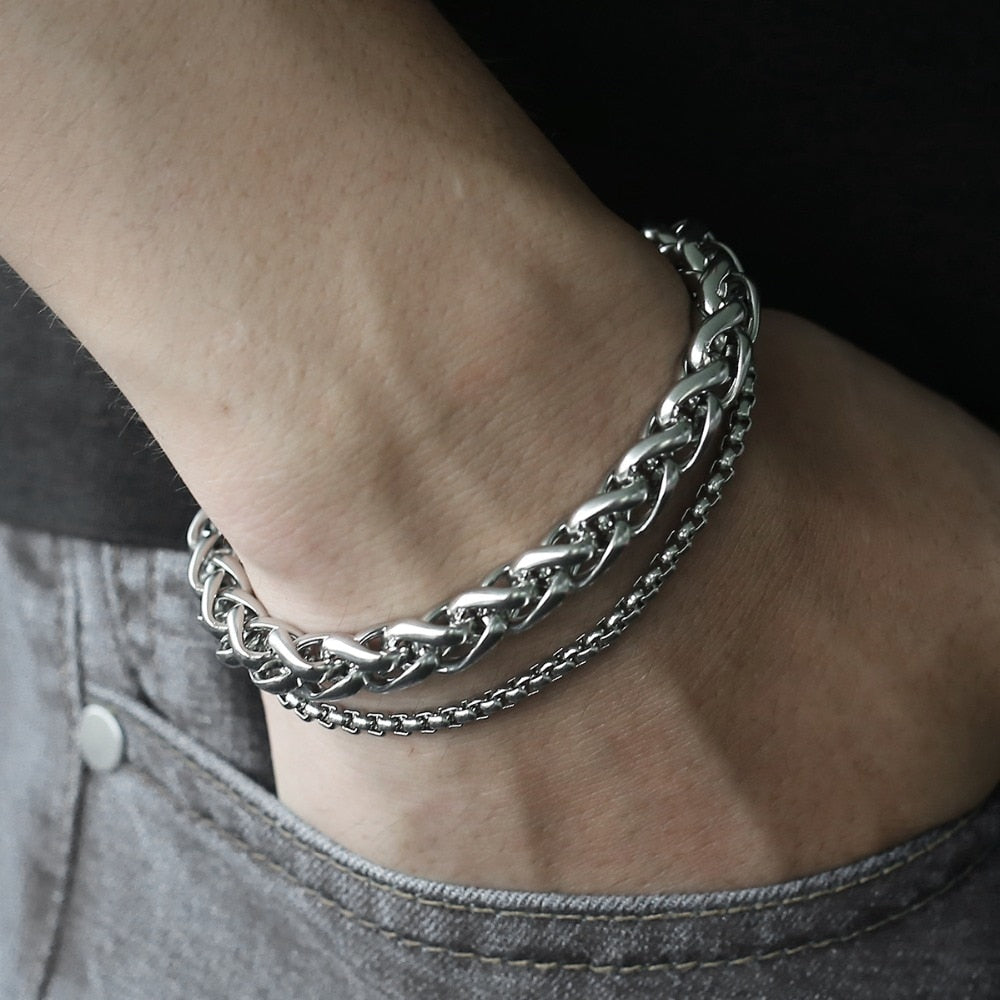 Unique Double Chain Bracelet