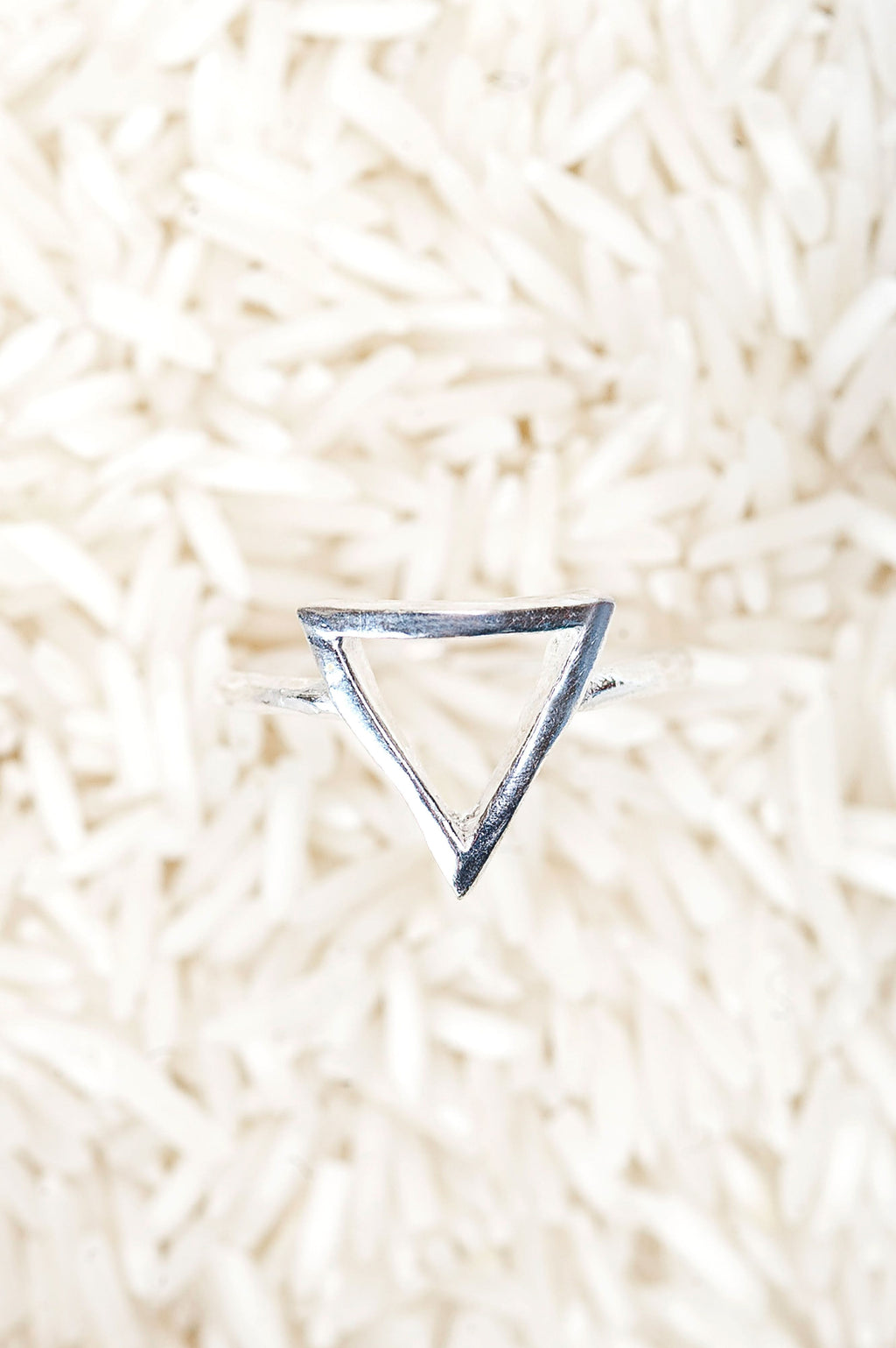 Triangle Ring Silver - Olive Gypsy Boutique